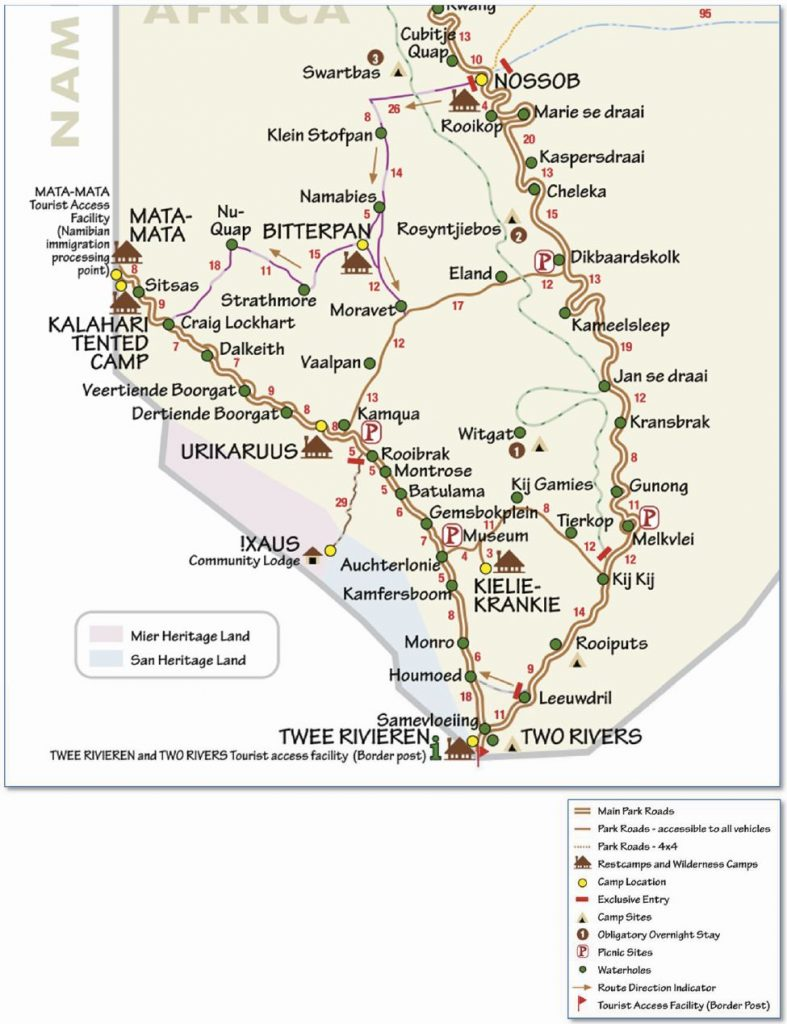 Mapa del sector sur del KTP